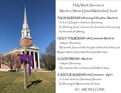 Holy Week 2018 Schedule