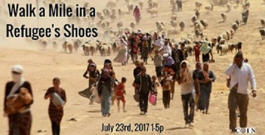Walk a Mile in a Refugee's Shoes Event
